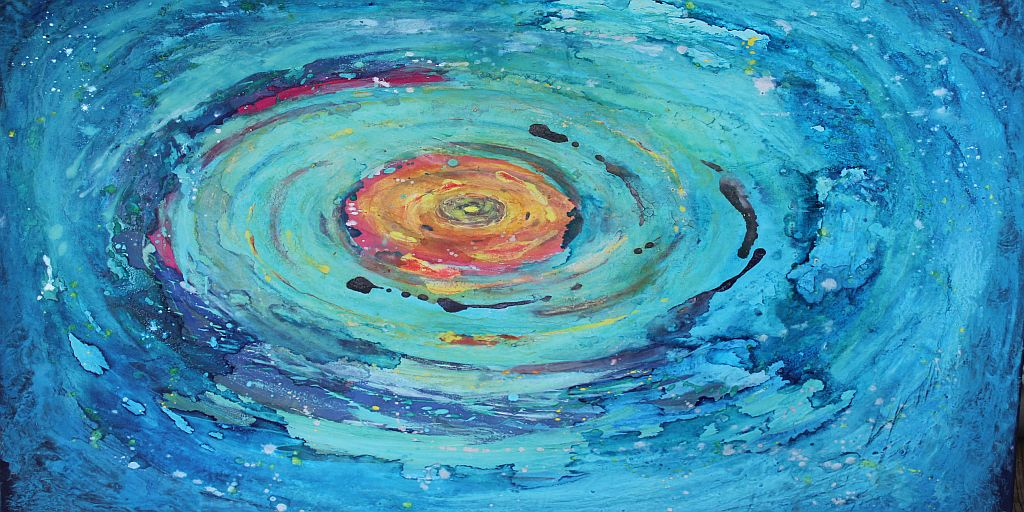 Blaue galaxie für WEB2